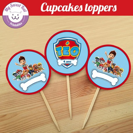 Pat patrouille - Cupcakes toppers