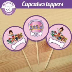 Pat patrouille fille - Cupcakes toppers