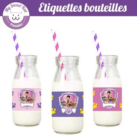 Pat patrouille fille - Etiquettes bouteilles