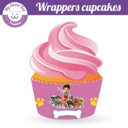 Pat patrouille fille - Cupcakes wrappers