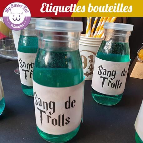 Harry potter - Etiquettes bouteilles