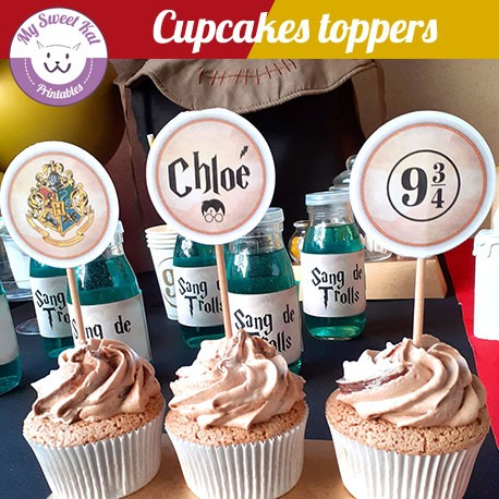 Harry potter - Cupcakes toppers