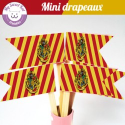 Harry potter - mini drapeaux