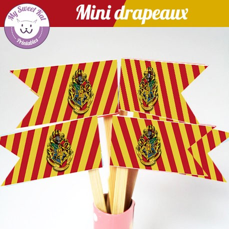 Harry potter - mini drapeaux