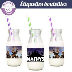 Fortnite  - Etiquettes bouteilles