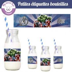 Avengers - Etiquettes bouteilles