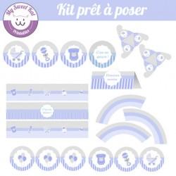 Baby shower 'bleu' - Kit complet