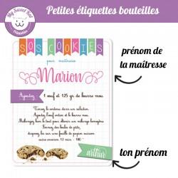 SOS Cookies-pour maîtresse - personnalisable
