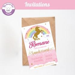 Licorne - Invitations