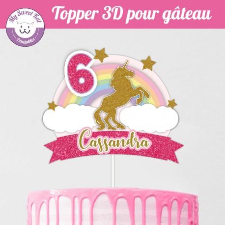 Topper 3D -  Licorne