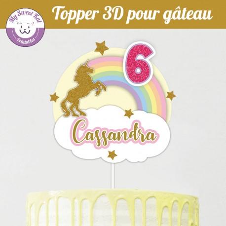 Topper 3D -  Licorne v2